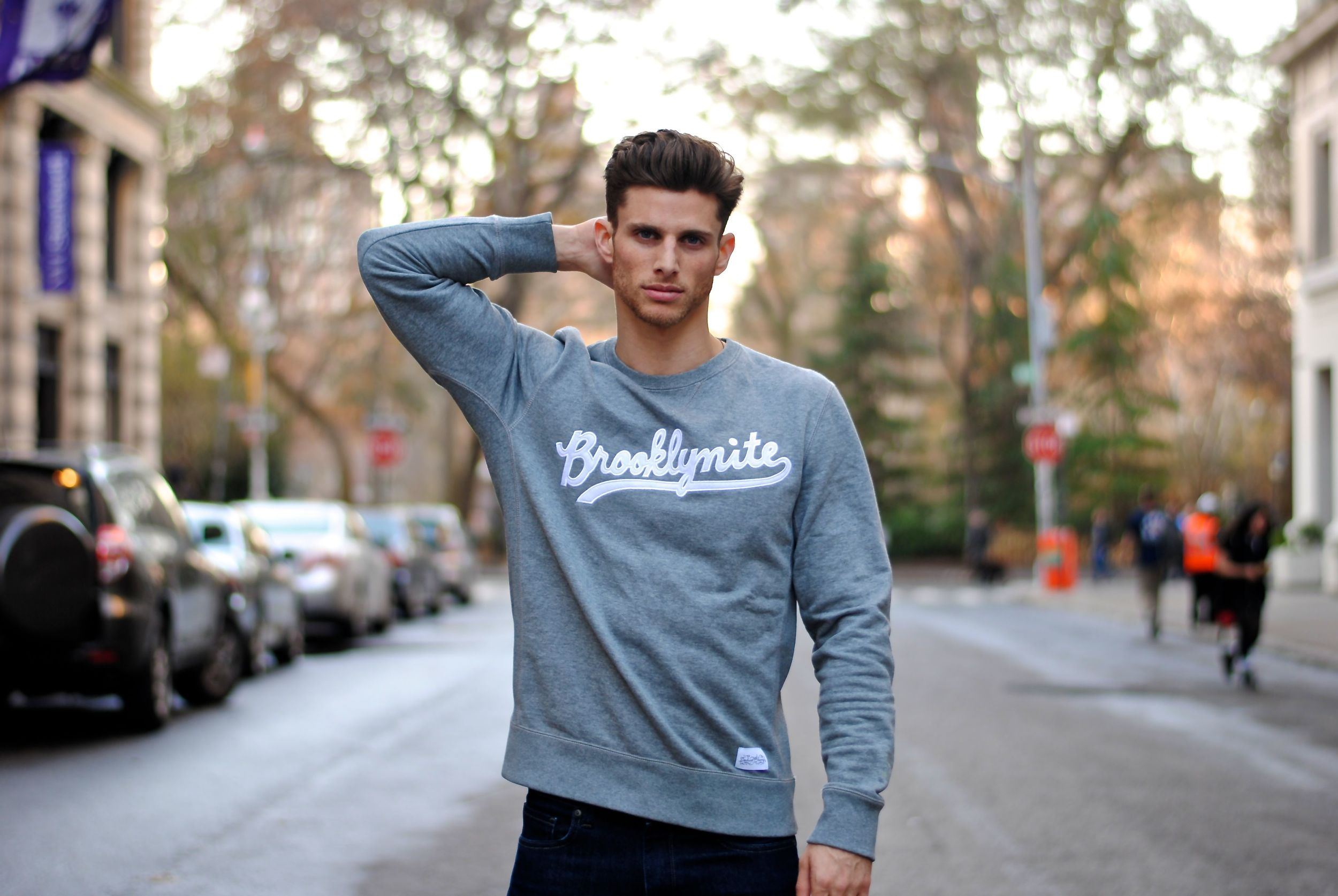 Brooklynite Grey Sweatshirt by Sophia Chang for PUMA