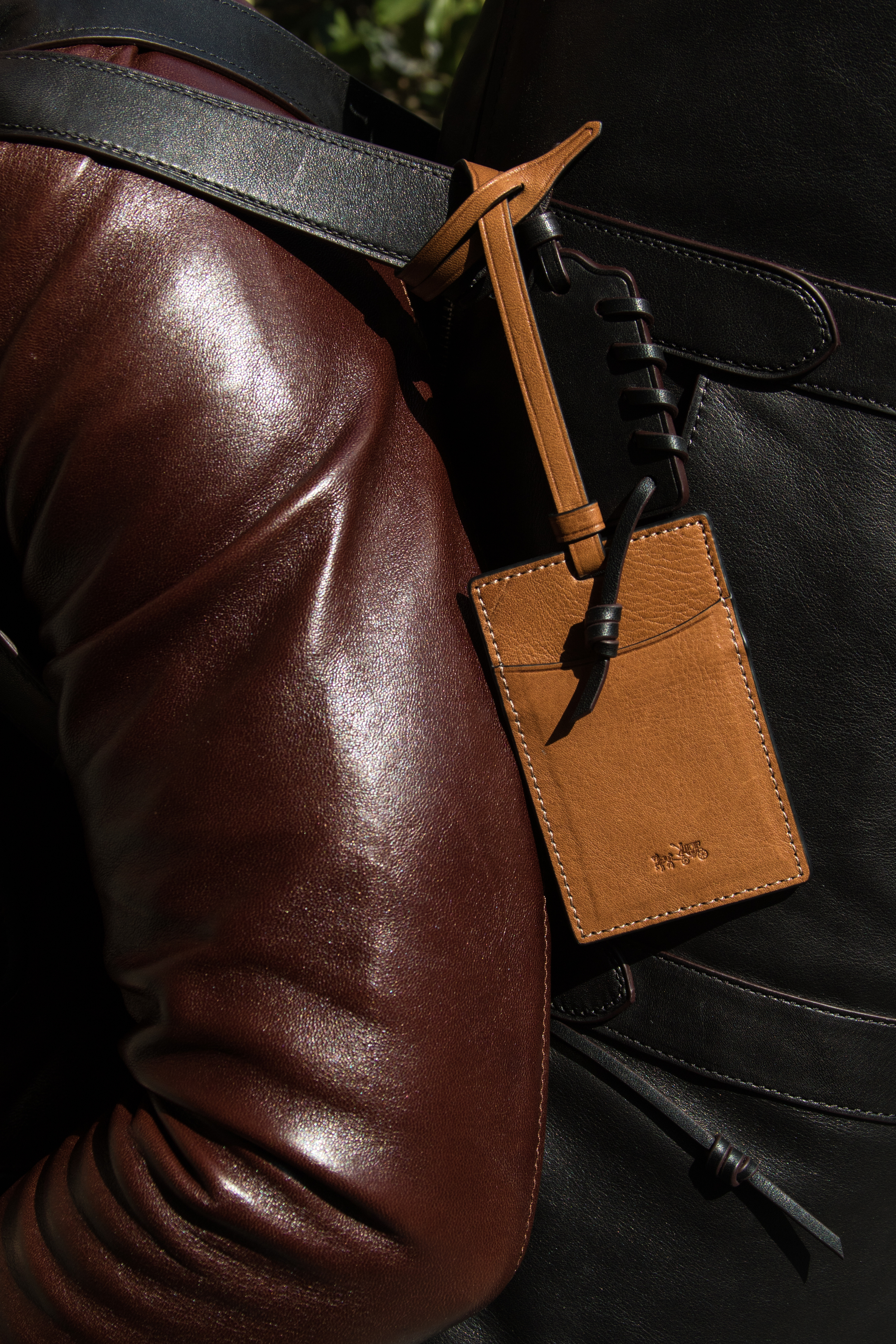 Leather Roadster Jacket    Rip And Repair Large Gym Bag