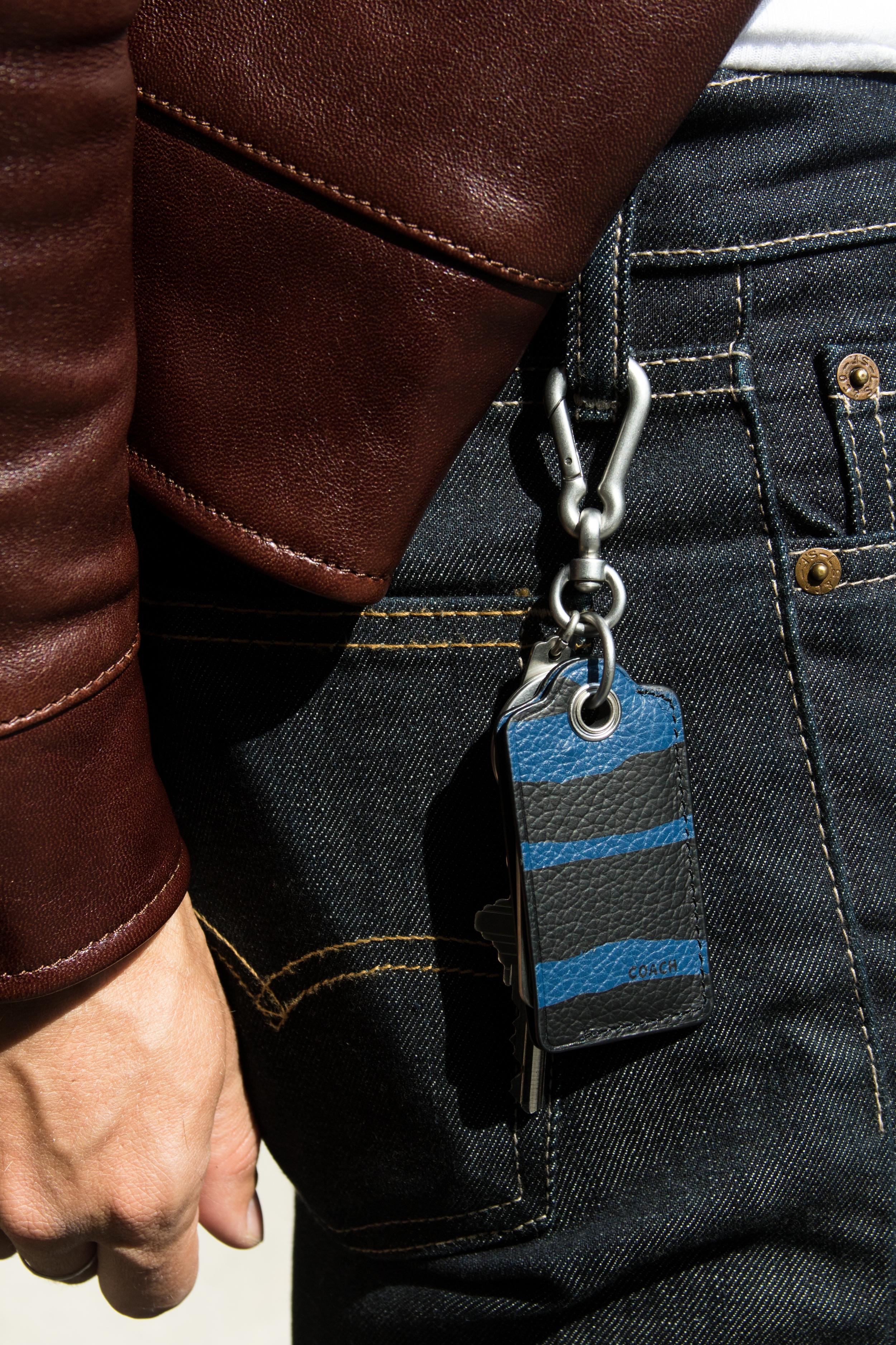 Leather Roadster Jacket     Bottle Opener Bag Charm