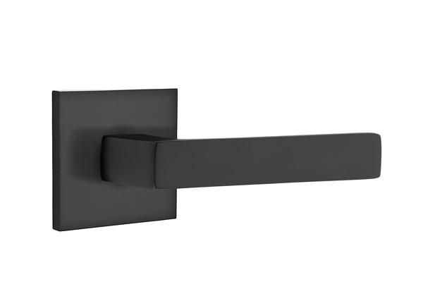 EMTEK | Dumont Lever, Square Rosette | FLAT BLACK.jpg