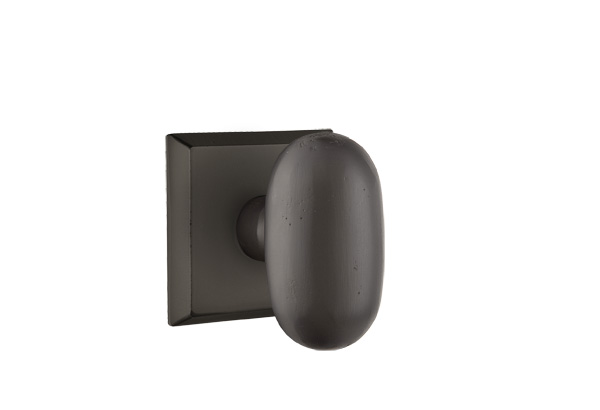 EMTEK | Egg Knob - Bronze, #6 Sandcast Bronze Rosette | FLAT BLACK.jpg