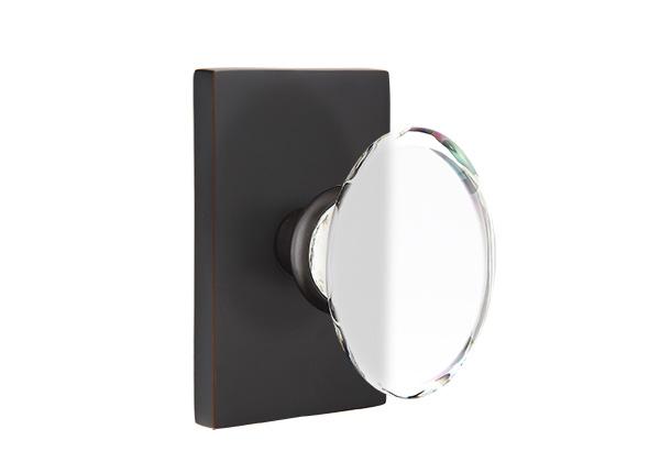 EMTEK | Hampton Knob, Rectangular Rosette | FLAT BLACK.jpg