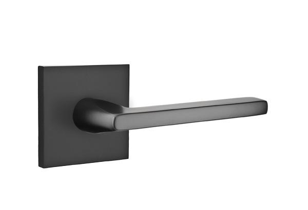 EMTEK | Helios Lever, Square Rosette | FLAT BLACK.jpg