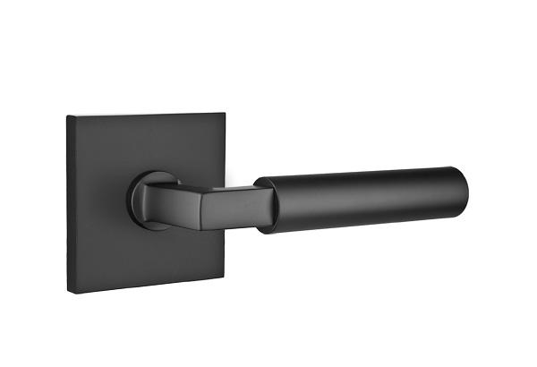 EMTEK | Hercules Lever, Square Rosette | FLAT BLACK.jpg