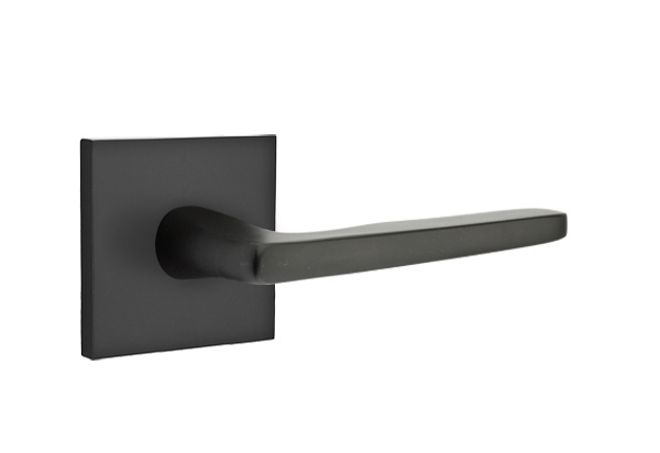 EMTEK | Hermes Lever, Square Rosette | FLAT BLACK.jpg