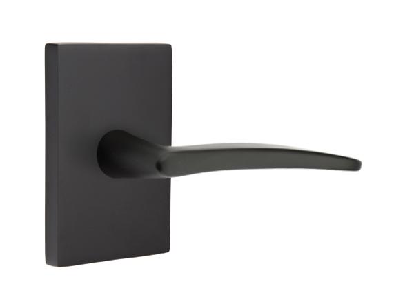 EMTEK | Poseidon Lever, Modern Rectangular Rosette | FLAT BLACK.jpg