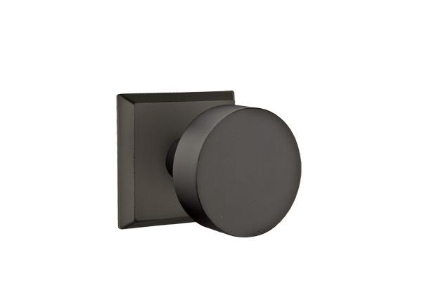 EMTEK | Round Knob - Bronze, #6 Sandcast Bronze Rosette | FLAT BLACK.jpg