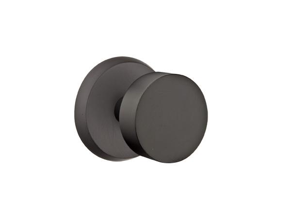 EMTEK | Round Knob - Bronze, Sandcast Bronze #2 Rosette | FLAT BLACK.jpg