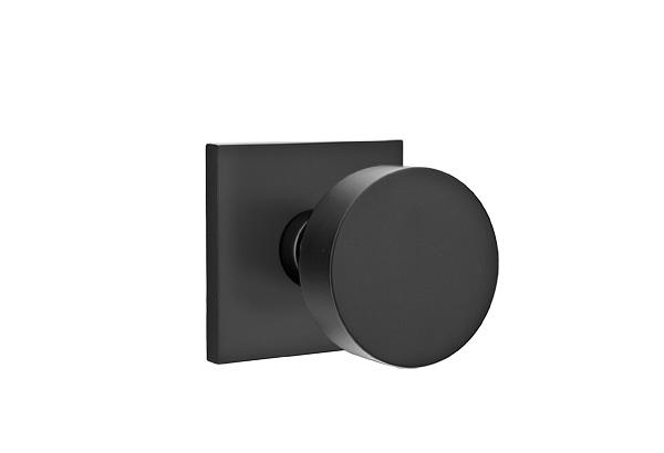 EMTEK | Round Knob, Square Rosette | FLAT BLACK.jpg