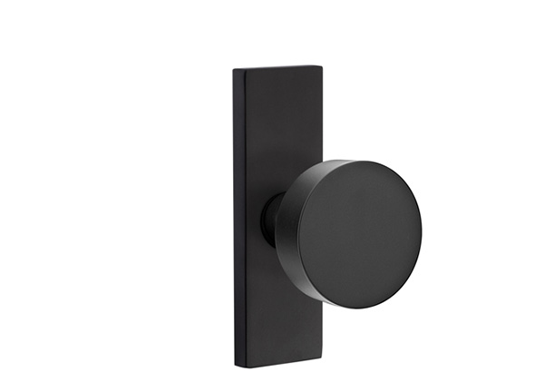 EMTEK | Round Knob, STRETTO 1.5x5 Rosette | FLAT BLACK.jpg
