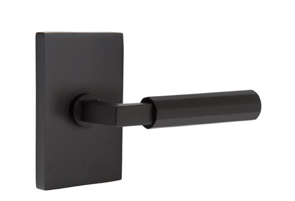 EMTEK SELECT, L-Square Faceted Lever, Modern Rectangular Rosette | FLAT BLACK.jpg