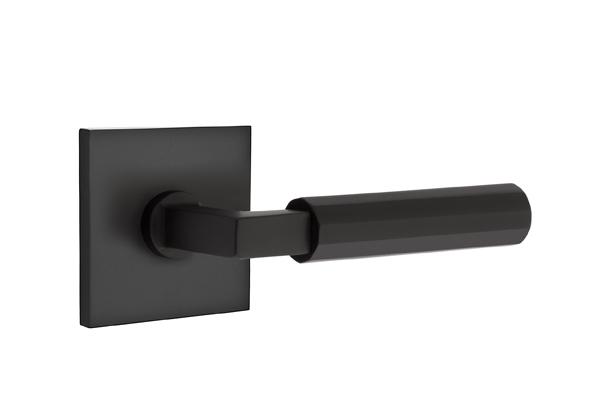 EMTEK SELECT, L-Square Faceted Lever, Square Rosette | FLAT BLACK.jpg