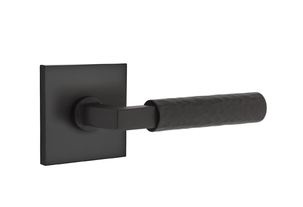 EMTEK SELECT, L-Square Hammered Lever, Square Rosette | FLAT BLACK.jpg