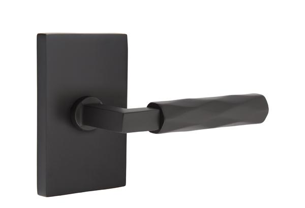 EMTEK SELECT, L-Square Tribeca Lever, Modern Rectangular Rosette | FLAT BLACK.jpg