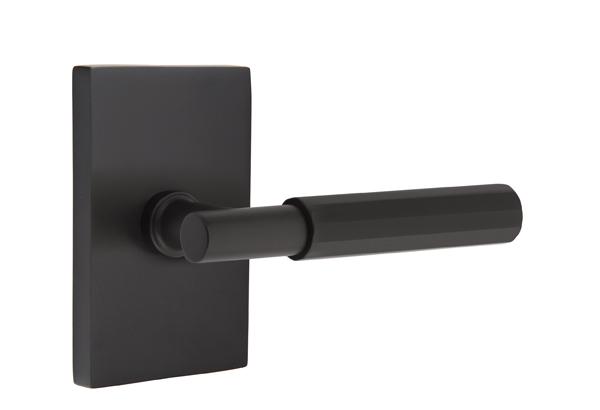 EMTEK SELECT, T-Bar Faceted Lever, Modern Rectangular Rosette | FLAT BLACK.jpg