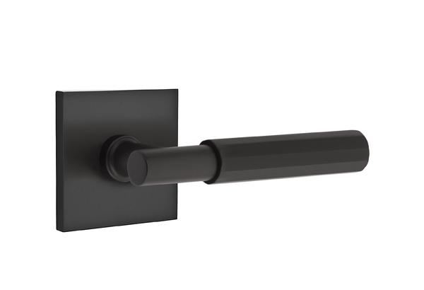 EMTEK SELECT, T-Bar Faceted Lever, Square Rosette | FLAT BLACK.jpg