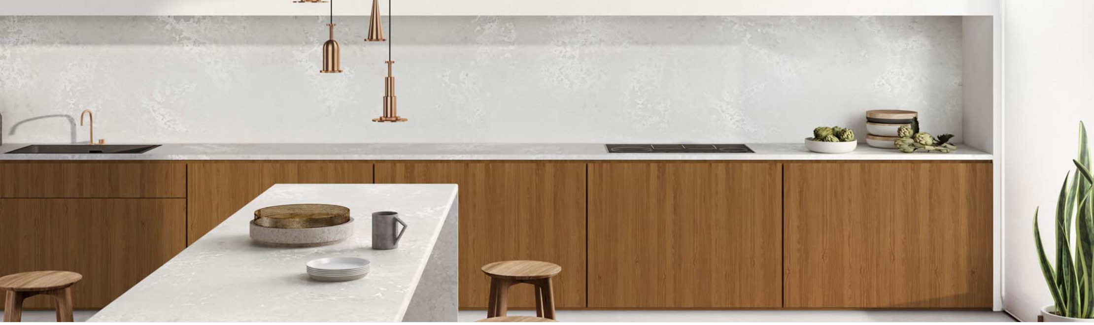 CAESARSTONE | CLOUDBURST CONCRETE | KITCHEN