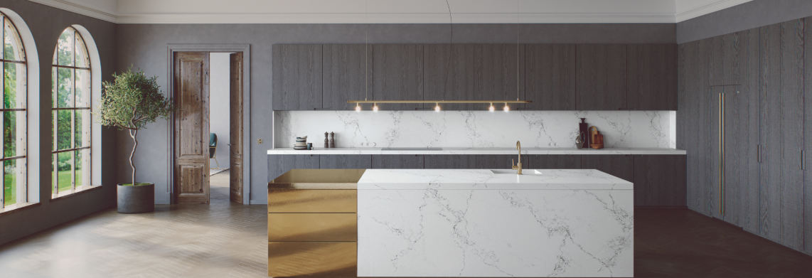 CAESARSTONE | EMPIRA WHITE | KITCHEN