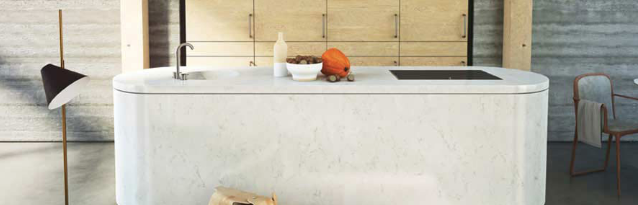 CAESARSTONE | FROSTY CARRINA | KITCHEN ISLAND