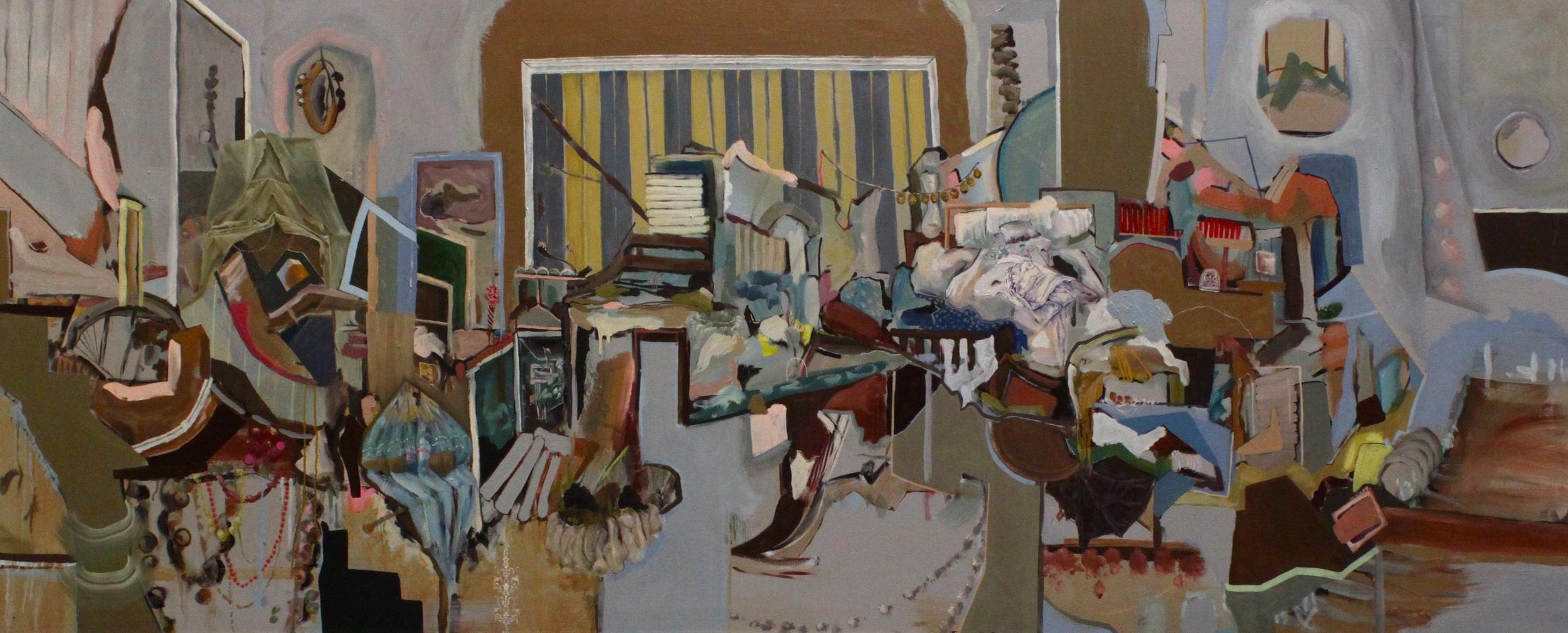 "'Steep', 96"" x 36"", Oil on Canvas, 2012"