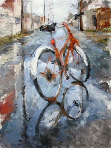 Bicycle, Alley, After the Rain
