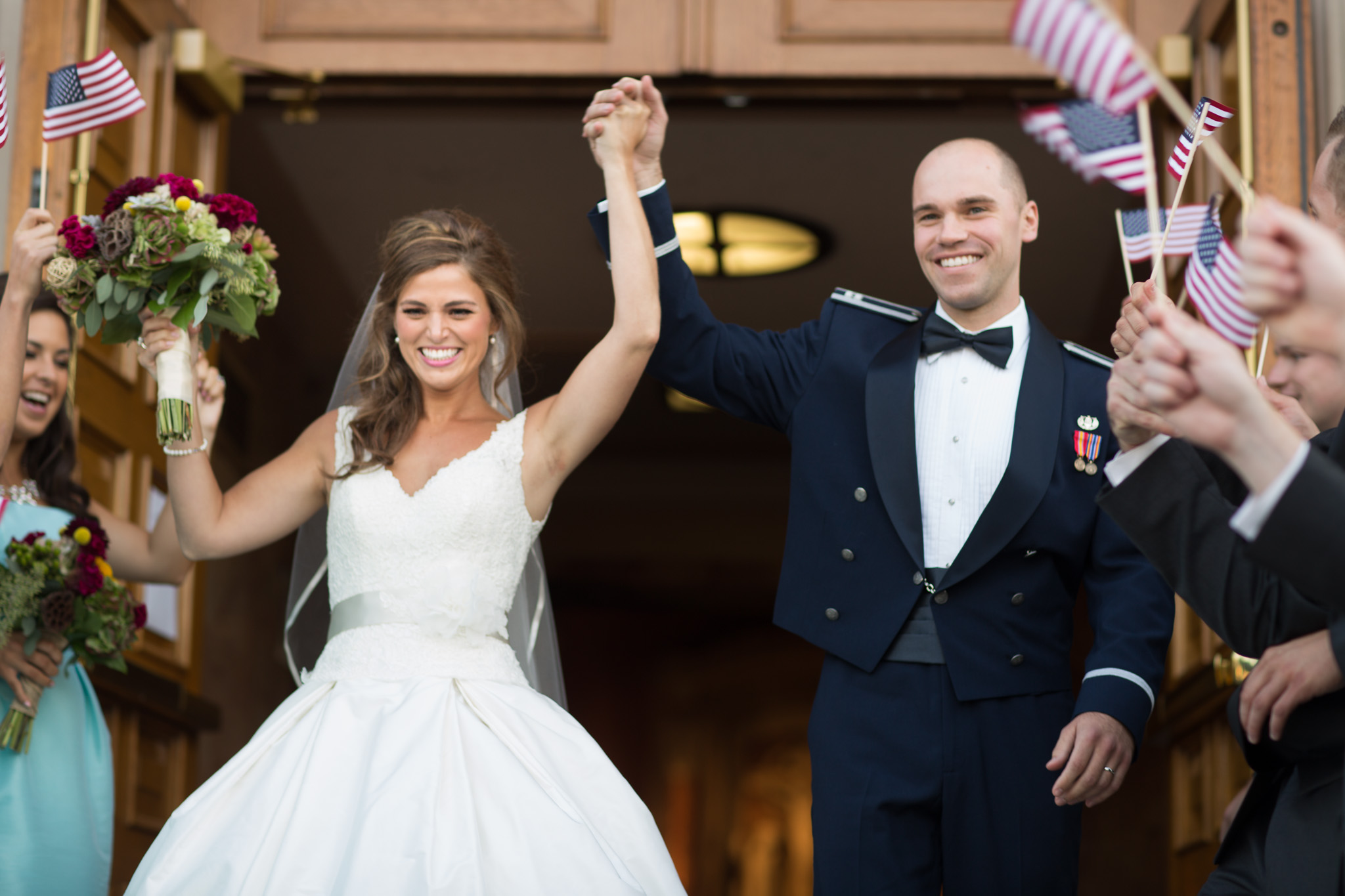 Military wedding ceremony exit Margaret Buttweiler Chicago Wedding Photographer With Jill Tiongco Web Res (1 of 1).jpg