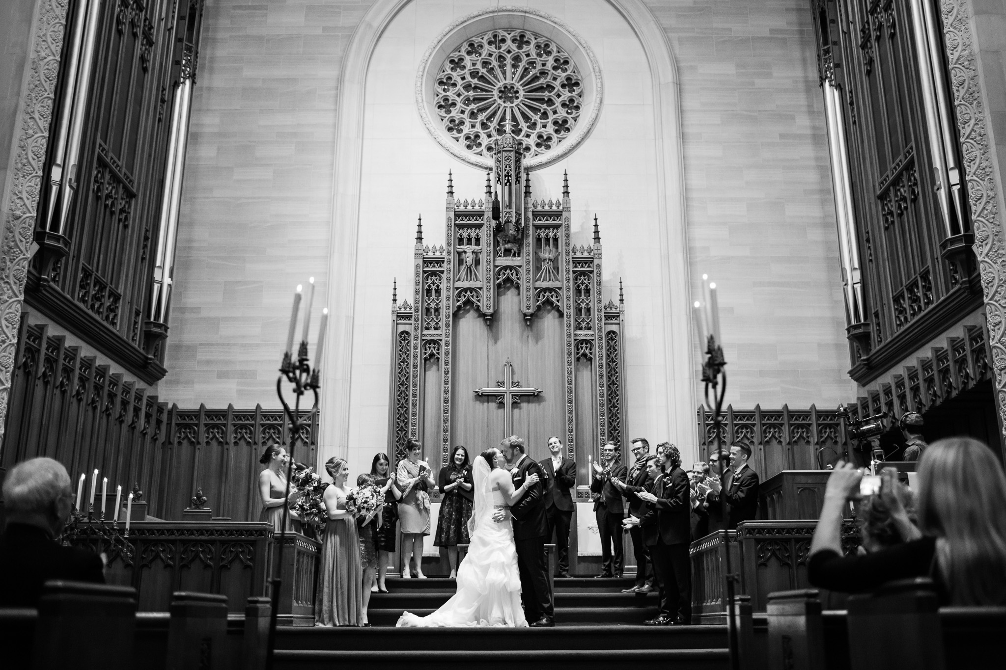 Kiss at the alter Margaret Buttweiler Photography Chicago wedding Photographer with Web Version (1 of 1).jpg
