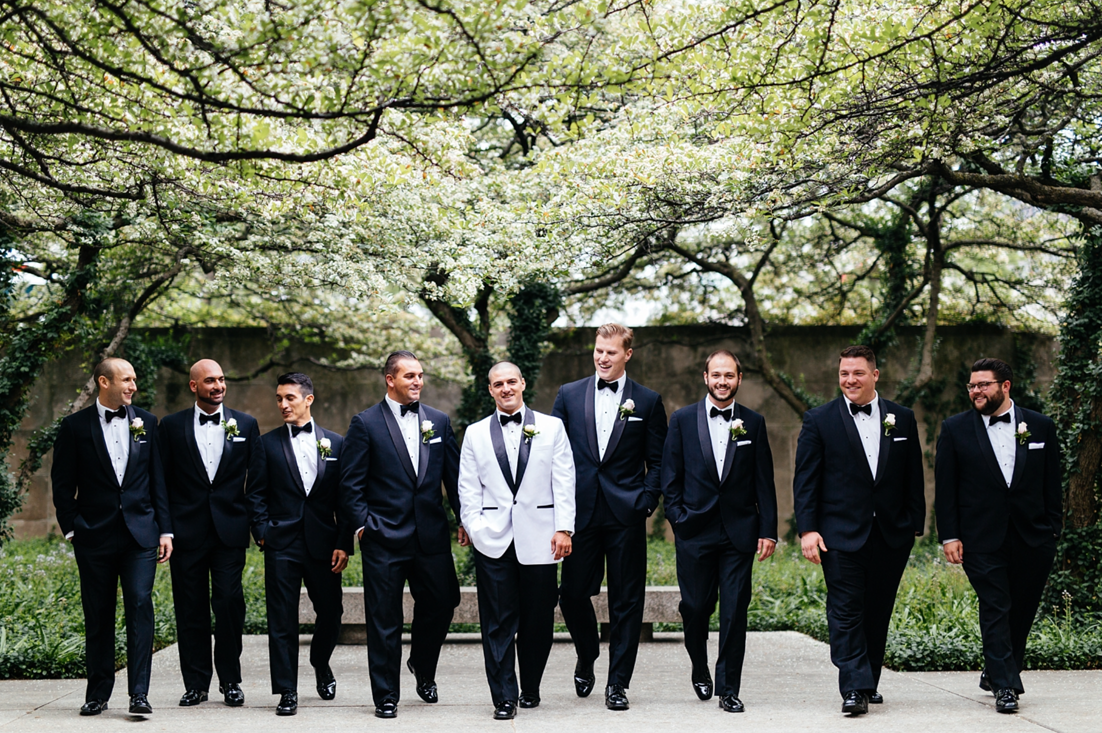 Chicago Wedding Photography south garden art institute of chicago groomsmen.png