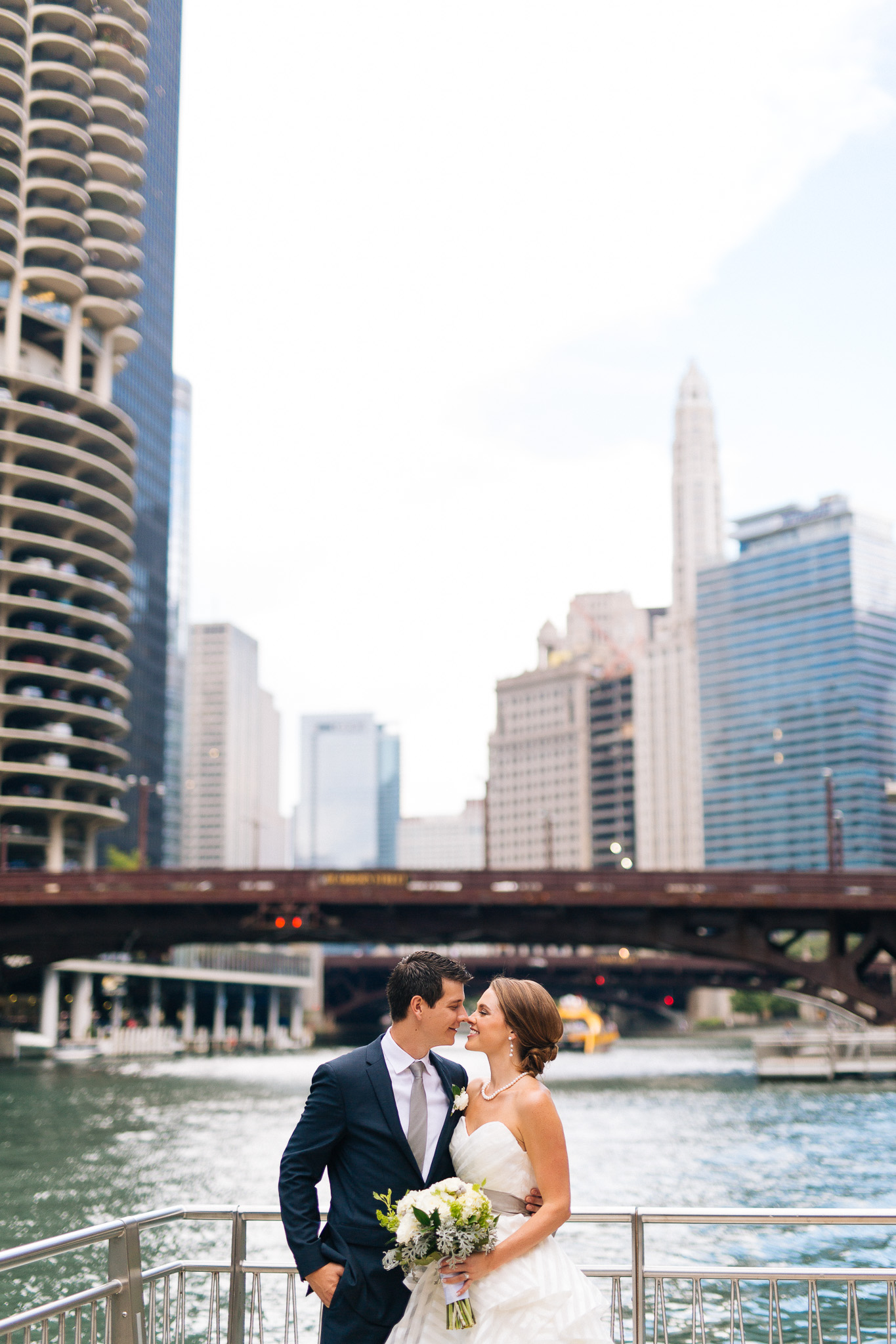 Downtown Chicago Wedding Photographer Outdoors Outside River Riverwalk Bride Groom Portrait Web Res (1 of 1).jpg