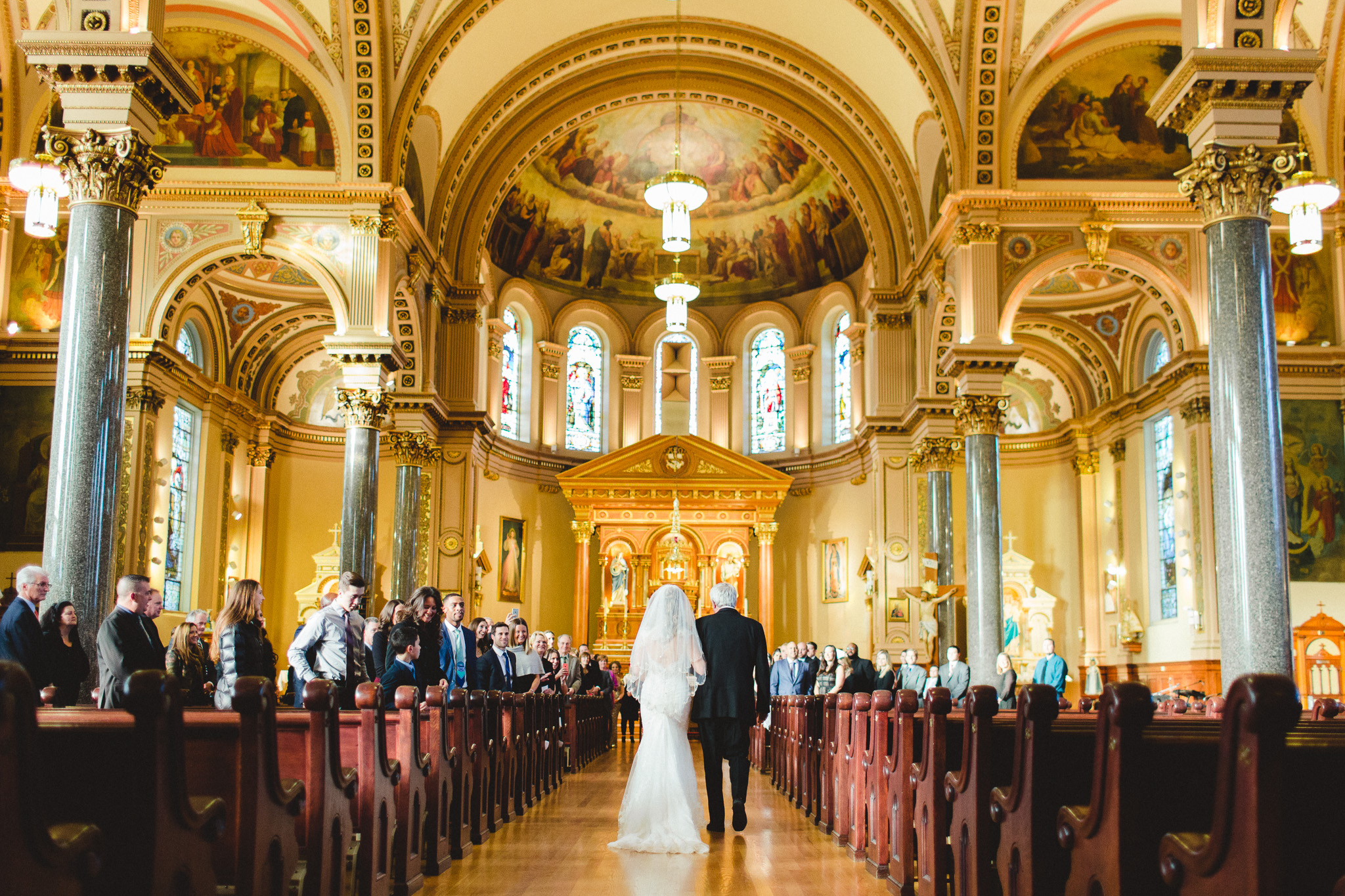 Chicago Wedding Chicago Wedding Photographer Margaret Buttweiler Photography Bride and Father down the Isle Church Chicago Church Photo Web Res 2 (1 of 1).jpg