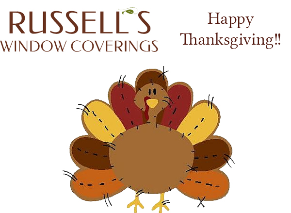 Russell's Window Coverings will be open for business over the holidays.  Bring in window coverings for repairs.
