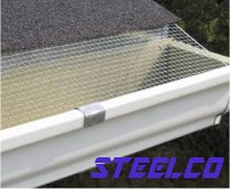 "Typically, aluminum gutters have a thin bead on the inside of the lip, 1/8"" or less. Front edge of screen goes under the gutter lip as shown."