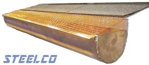 Copper half-round with copper STEELCO™ screen