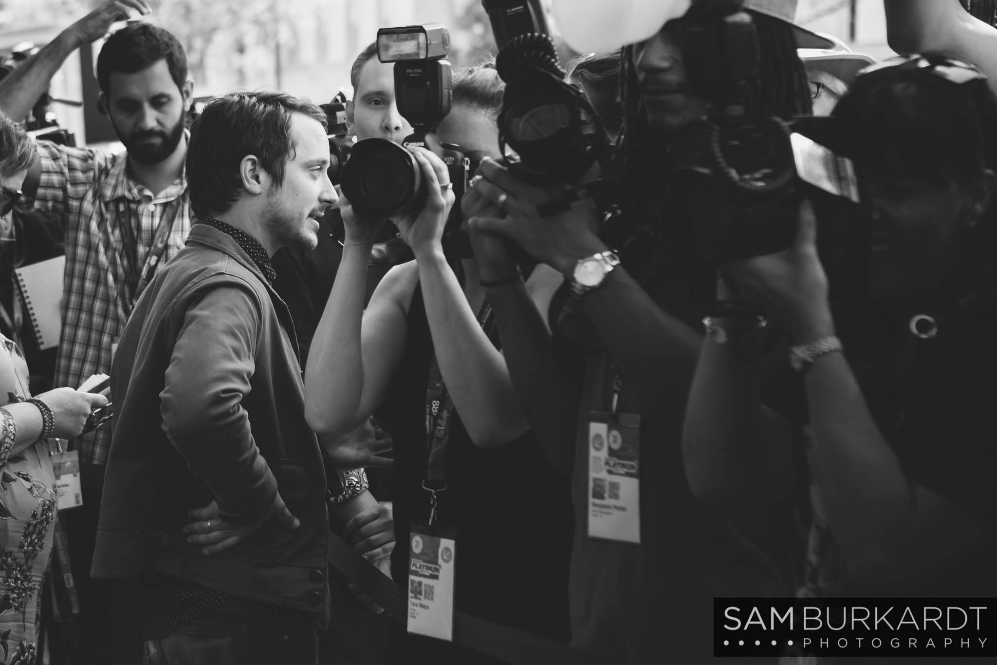 Elijah Wood at 'The Trust' premiere at SXSW 2016