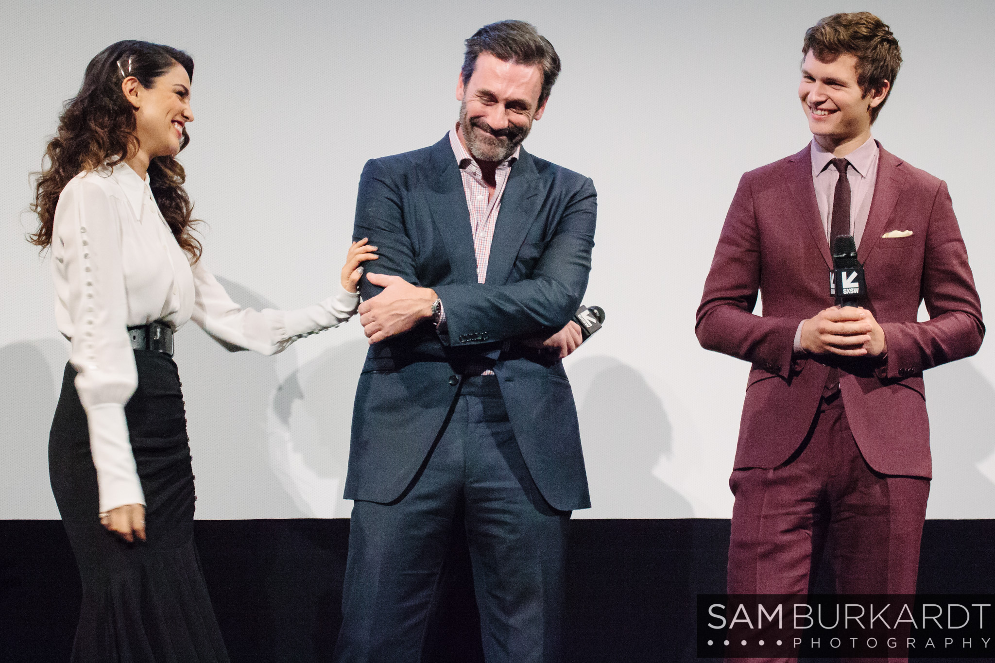 Eiza Gonzalez, Jon Hamm and Ansel Elgort - Baby Driver premiere