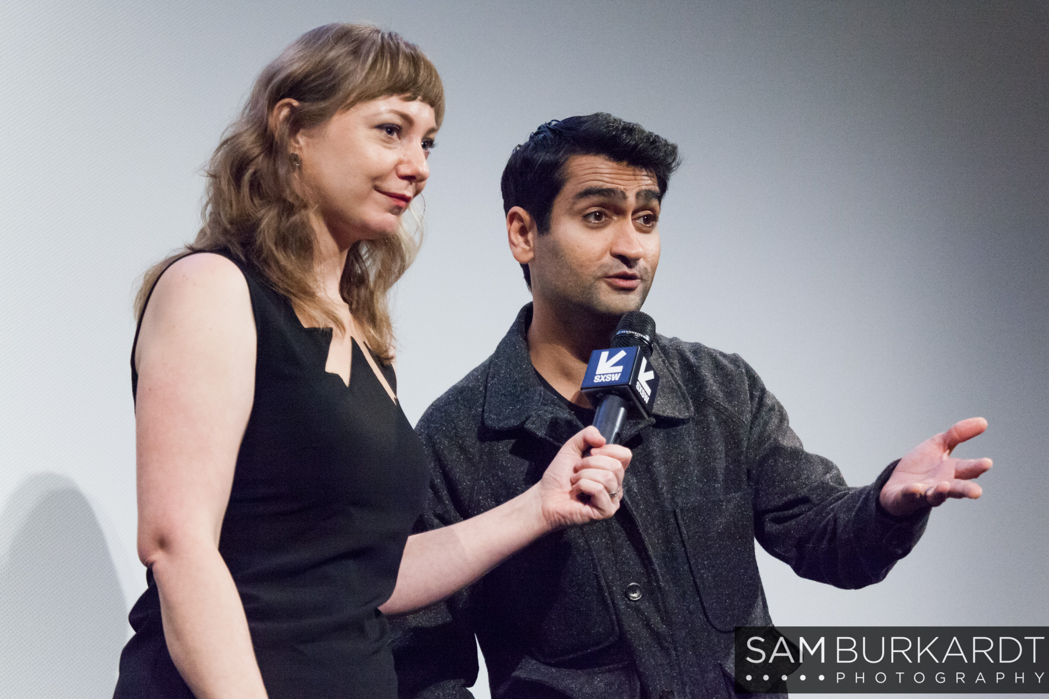 Emily V. Gordon and Kumali Nanjiani - The Big Sick movie premiere