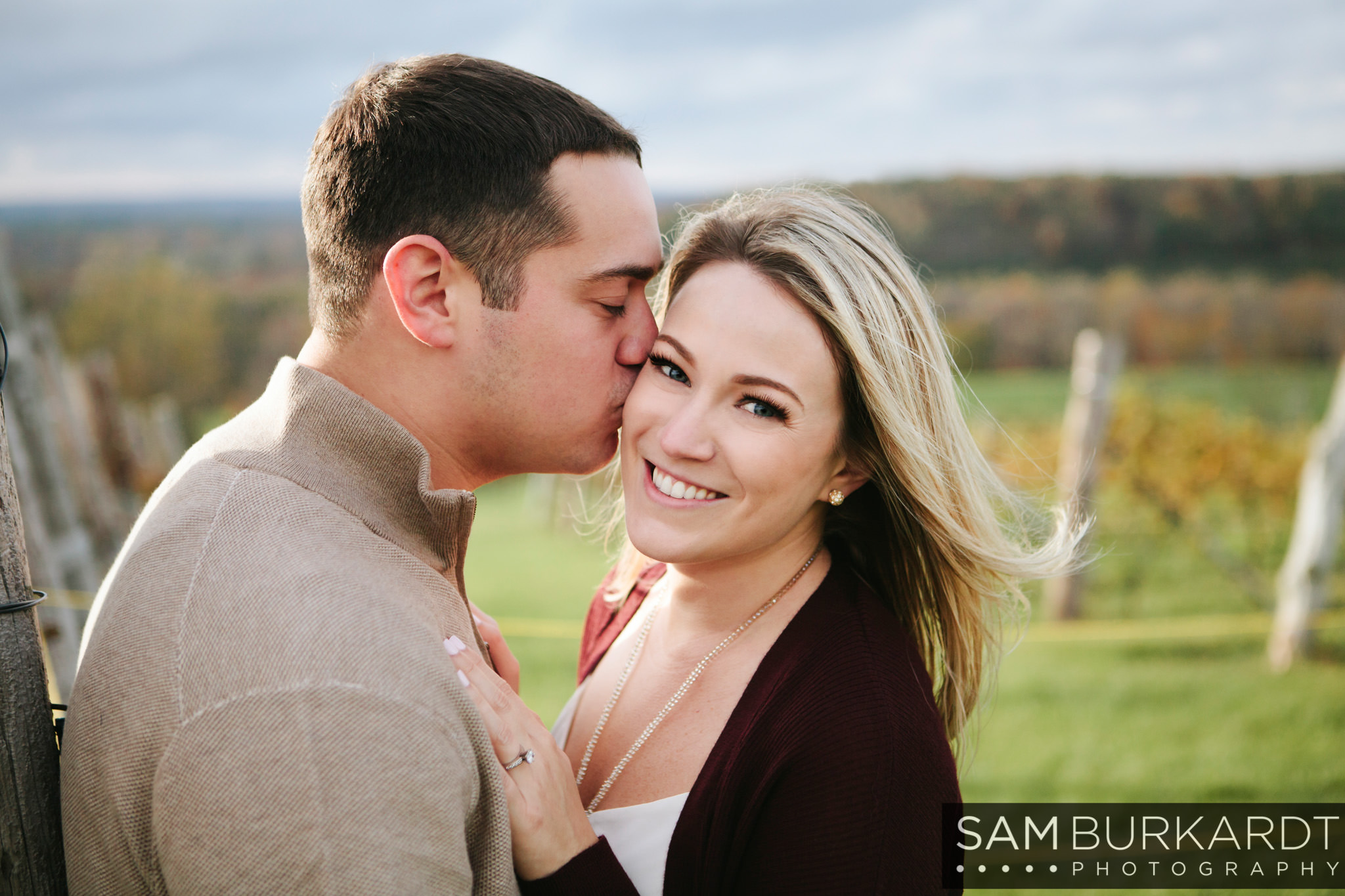 connecticut wedding engagement photographer sam burkardt at gouviea vineyars