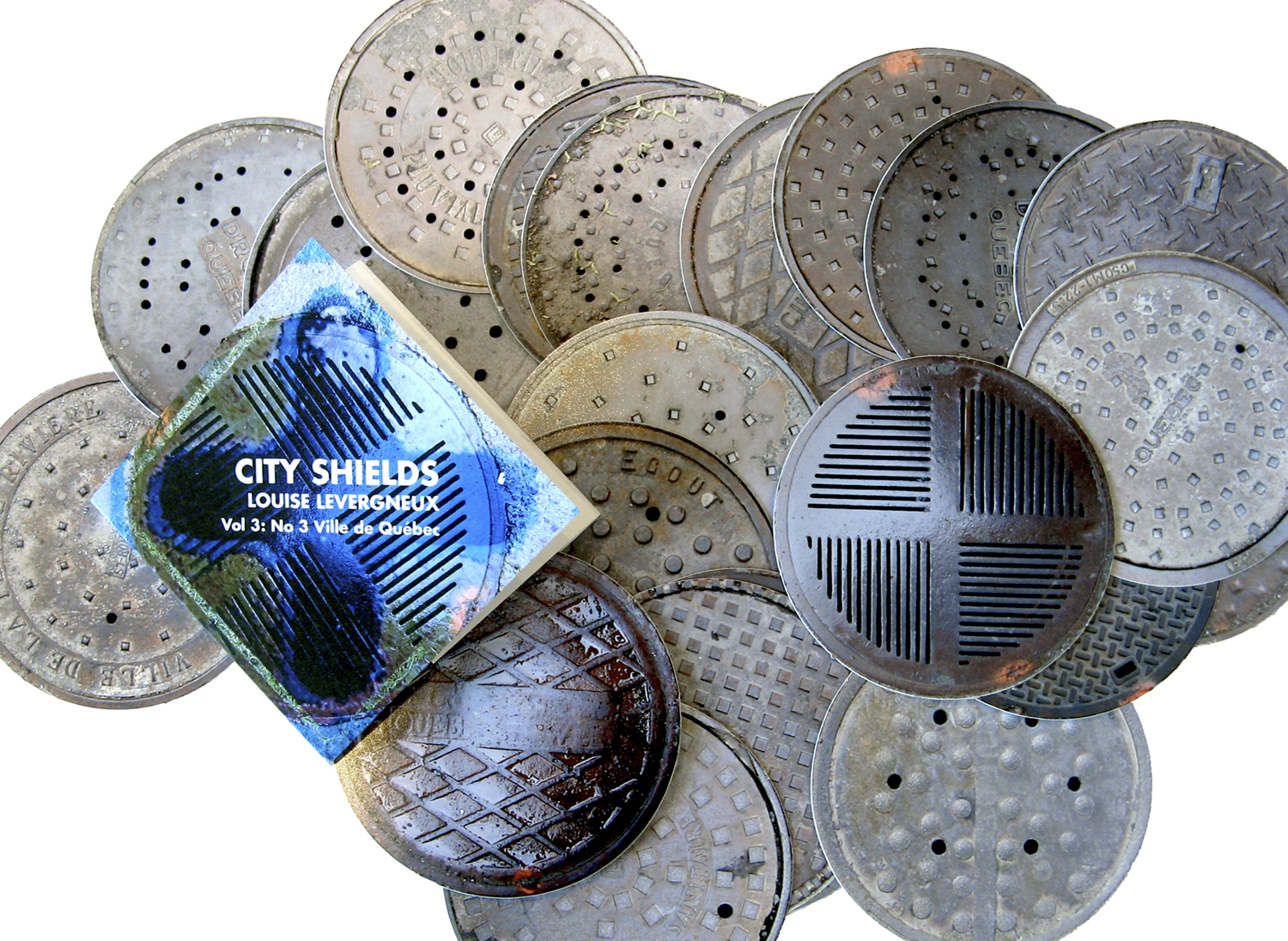 View of the manholes covers represented in the ville de Québec volume, Vol 3: No3
