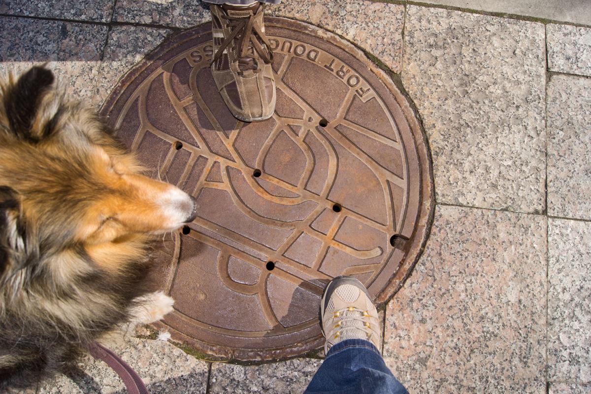 © 2010 Louise Levergneux, manhole cover on Main Street in Salt Lake City, Utah