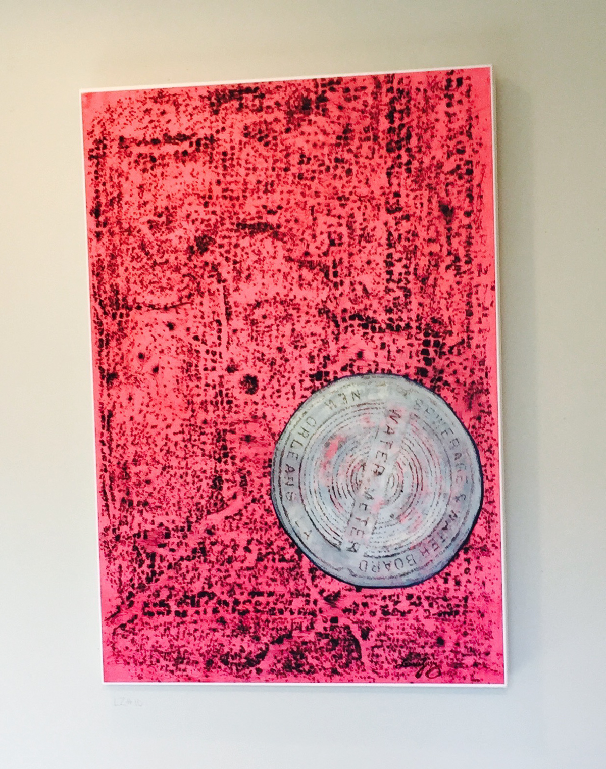 © 2016 Lucinda Ziesing, Lucinda, unknowingly the collage of a New Orleans water meter rubbing and a rubbing from the floor in Pompeii painting have a curious connection. The date of the Vesuvius and Katrina natural disasters is August 24th. No accidents, Right?