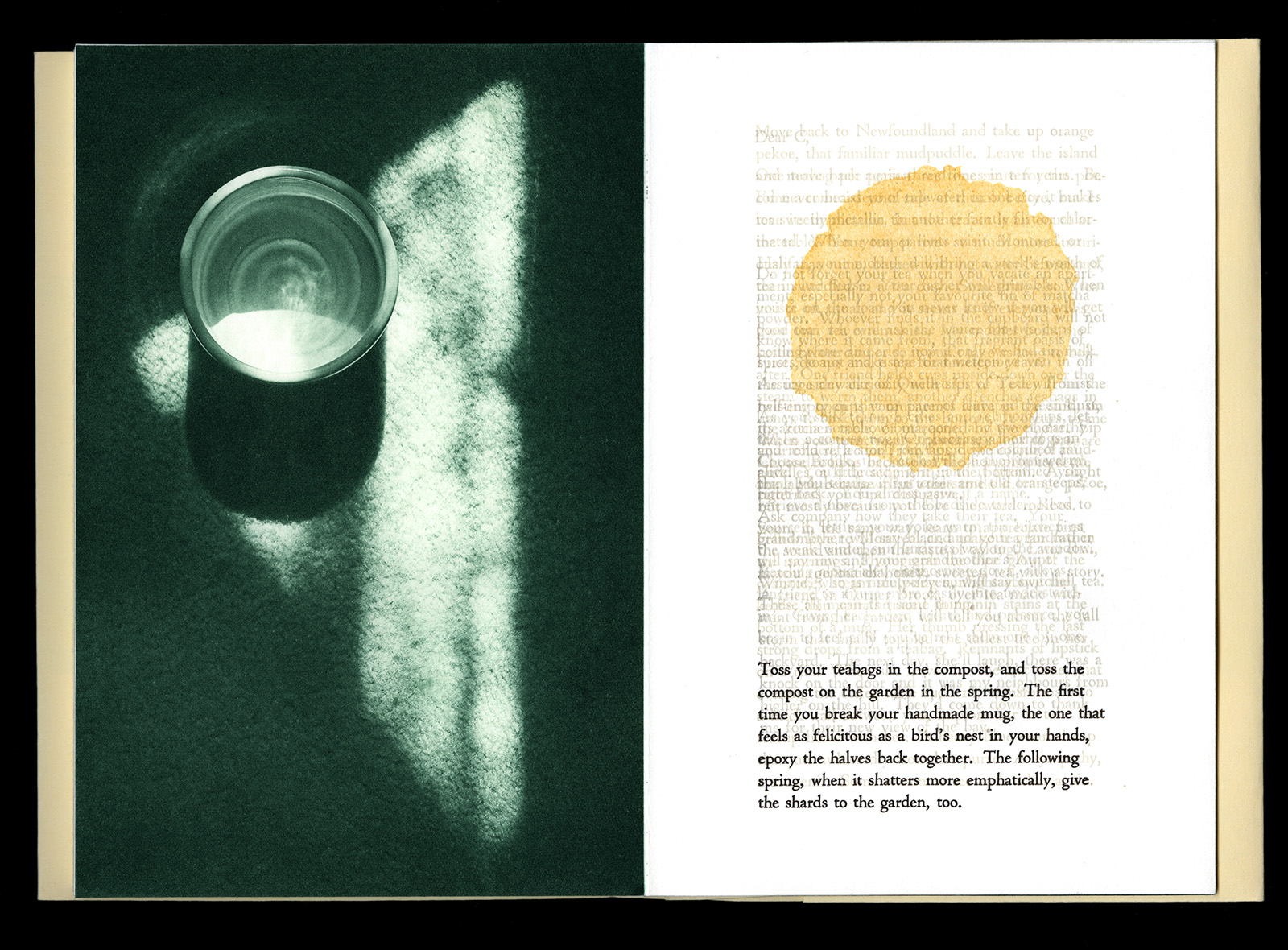 © 2016 M. MacCallum, Tea Ceremonies, view of the ninth page spread