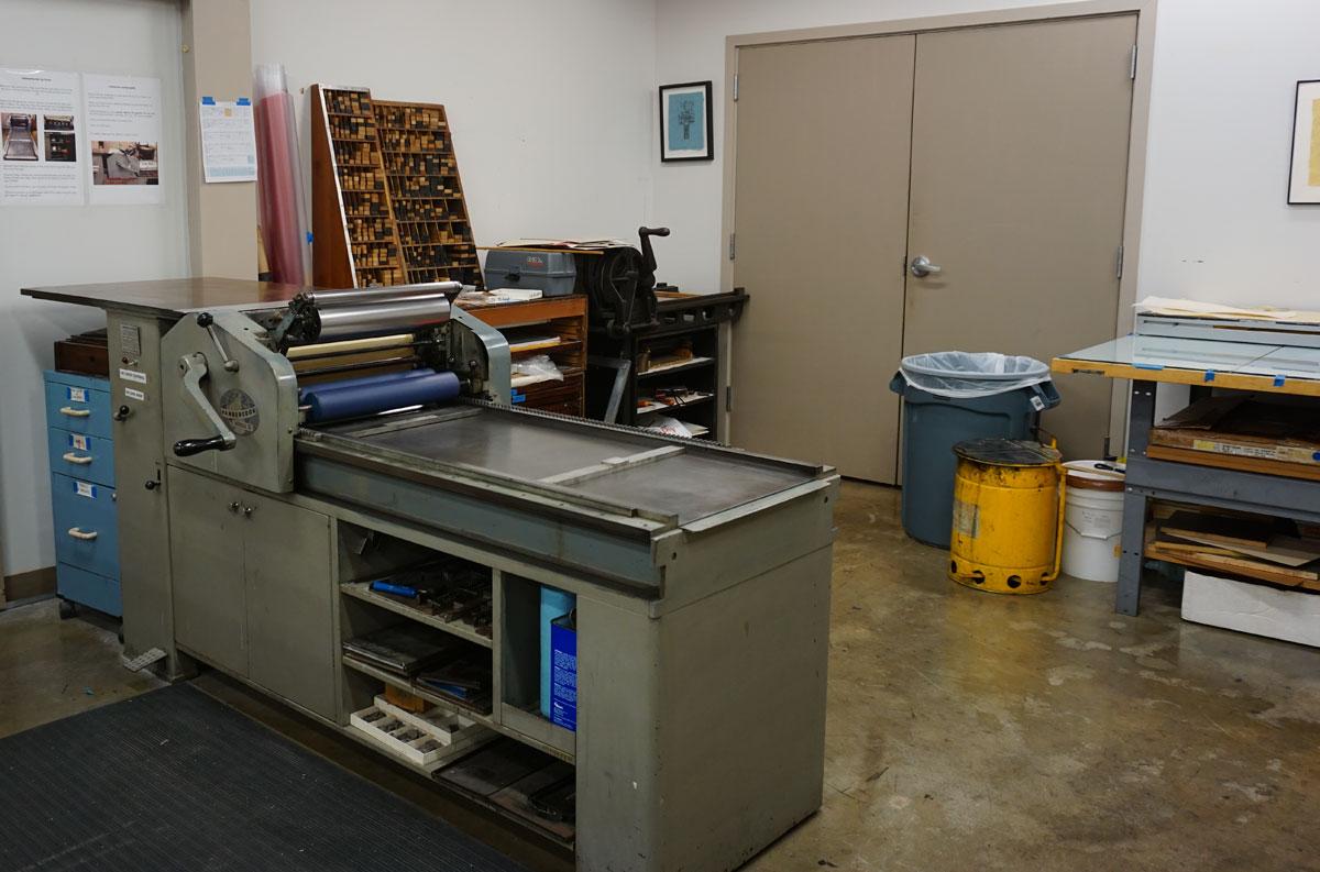 © 2017 Louise Levergneux, Southwest School of Art, printmaking lab