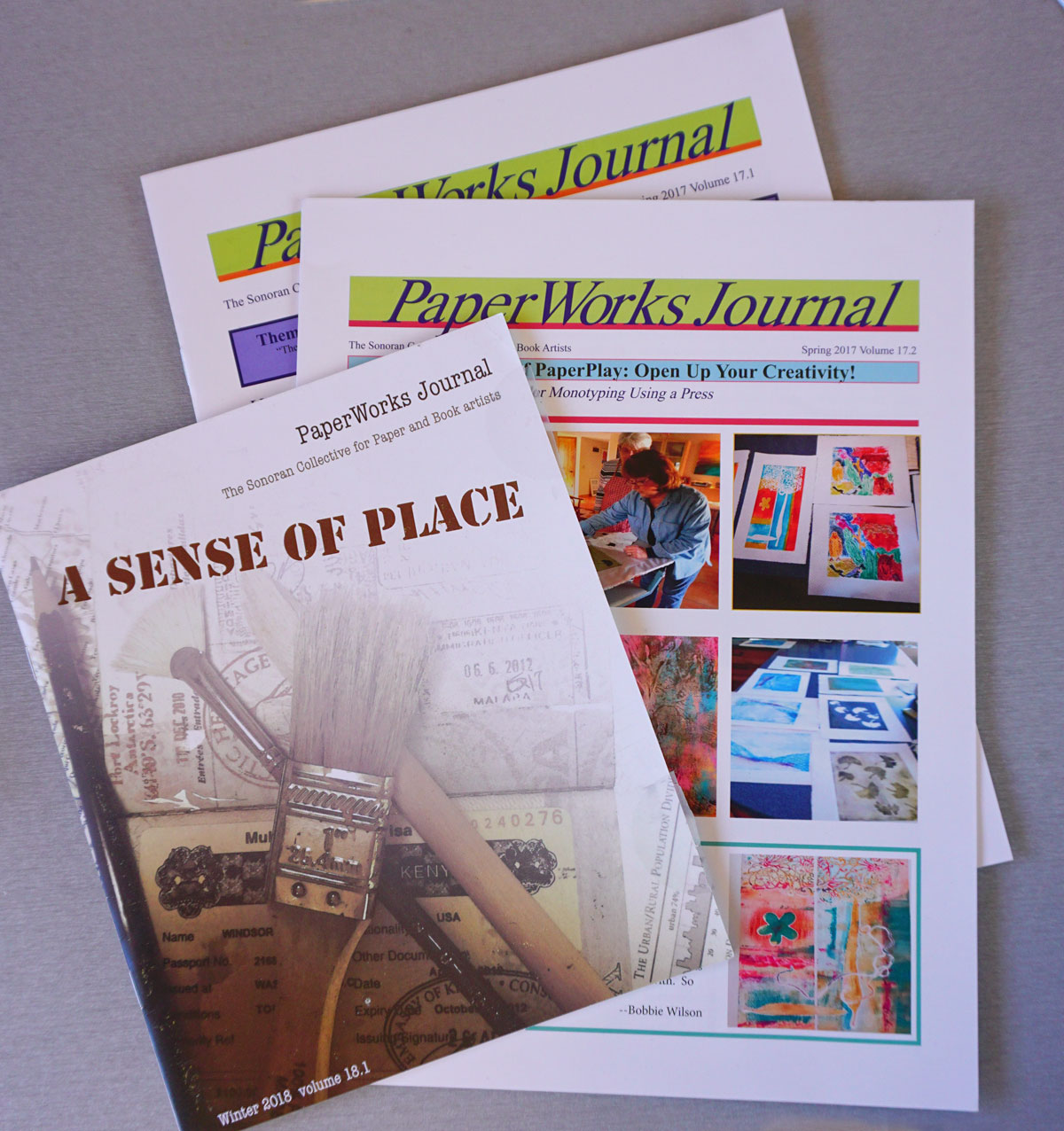 © 2018 Louise Levergneux, PaperWorks has a published journal produced by members who volunteer for the job.