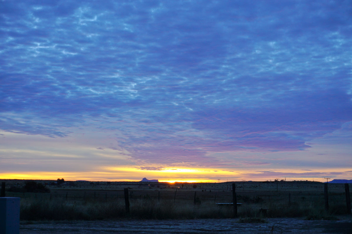 © 2017 Louise Levergneux, sunrise in Marfa, Texas