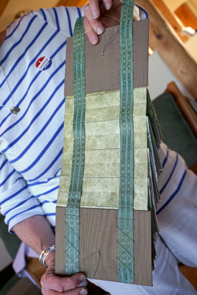 © 2018 Louise Levergneux, Gail Murray showing the cover of the sliding strap concertina