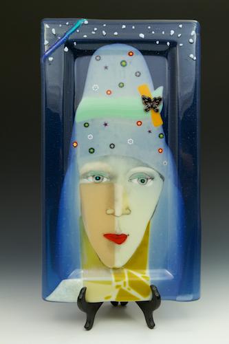 © 2018 Gary Viola, Twiga, fused glass by Monica Viola