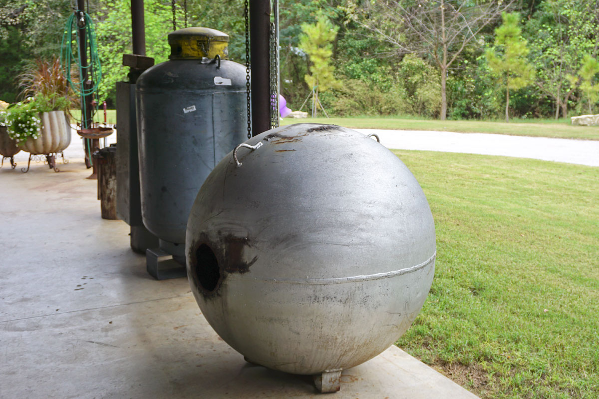 © 2018 Louise Levergneux. Propane tank waiting to find new life
