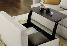 Example of my dream workstation!! but under the bed storage area instead of a pouf!