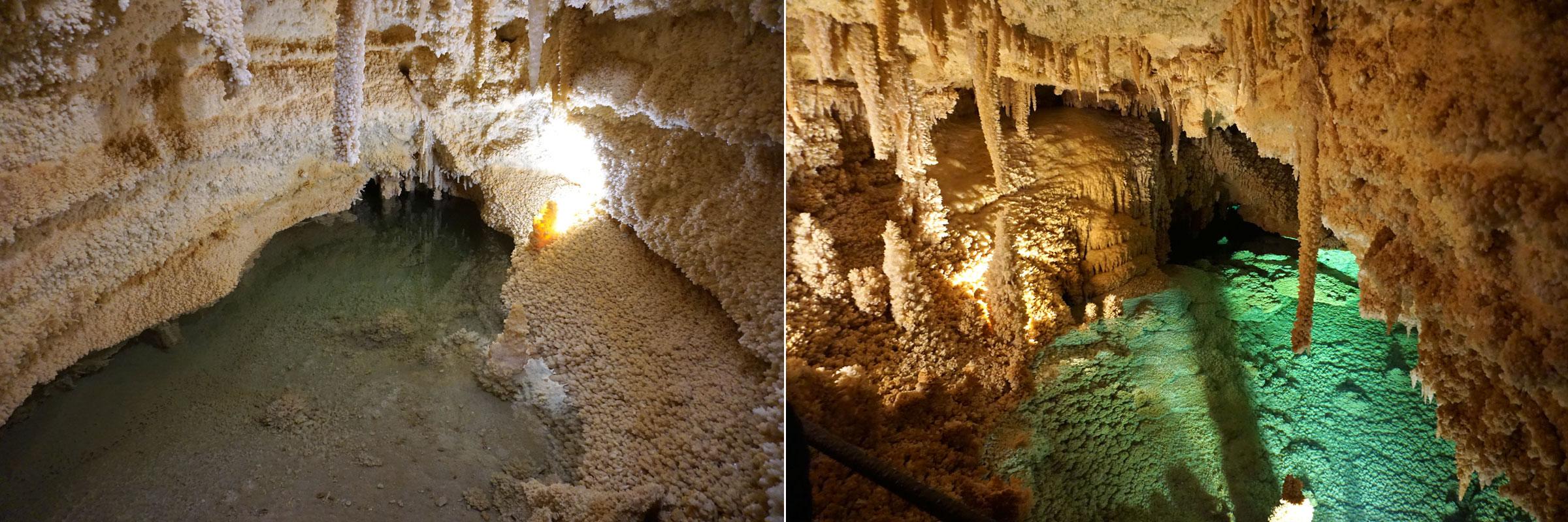 © 2019 Louise Levergneux. Horseshoe Lake inside the Caverns of Sonora. /  Le lac en fer a cheval dans les cavernes de Sonora.