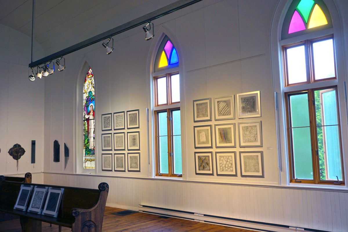© 2019 Louise Levergneux.  Conteurs d'eau  exhibition by François Chamberland at Galerie Art Plus in Sutton, Québec.